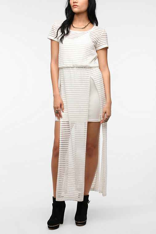 Elliatt Sheer Stripe Ursula Maxi Dress