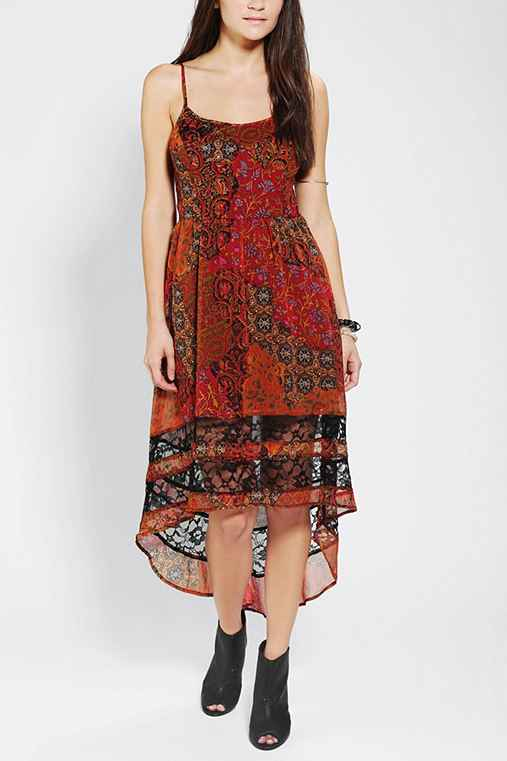 Band Of Gypsies Chiffon High/Low Dress
