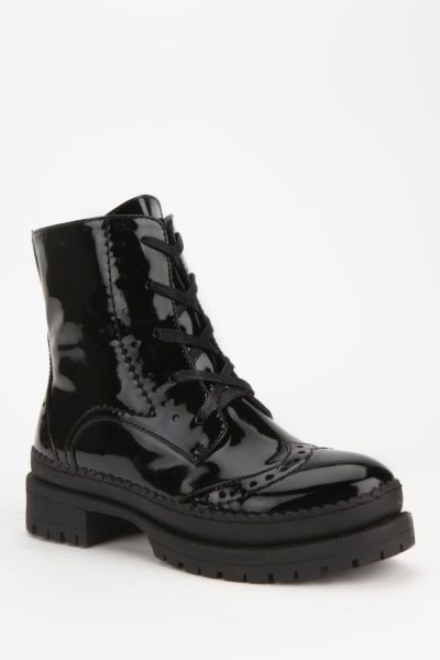 Wanted Harper Patent Lace-Up Ankle Boot