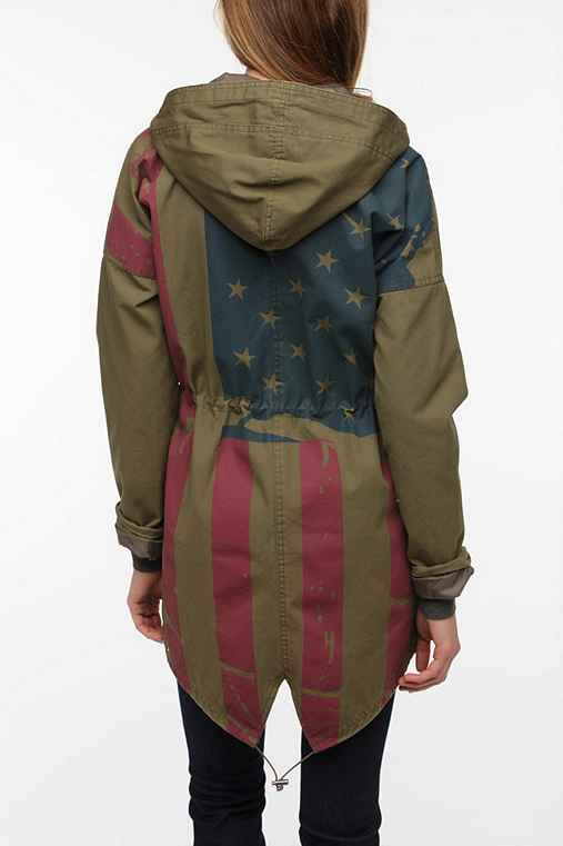BDG Americana Flag-Back Surplus Jacket
