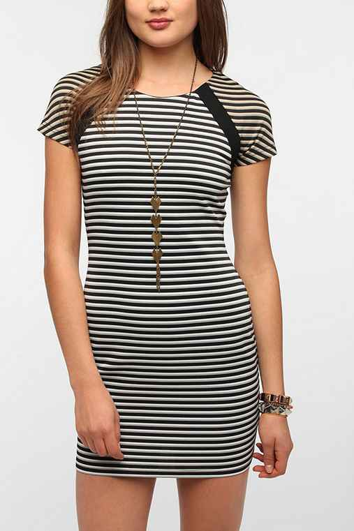 Lucca Couture Striped Bodycon Dress