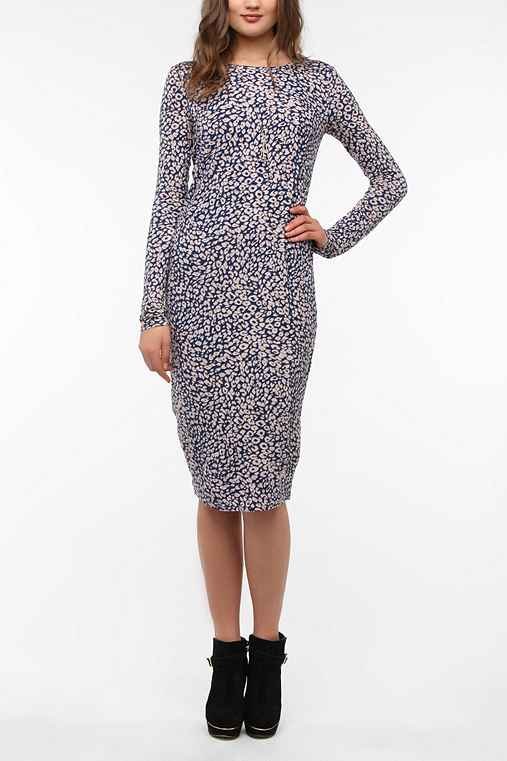 Lucca Couture Knit Long-Sleeved Midi Dress