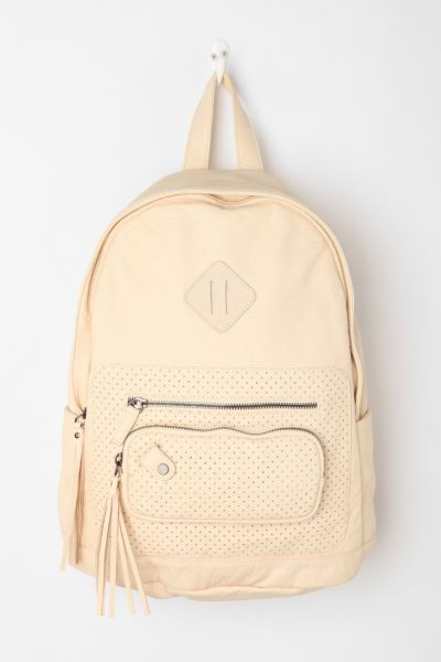 Deena & Ozzy Perforated Tassel Backpack