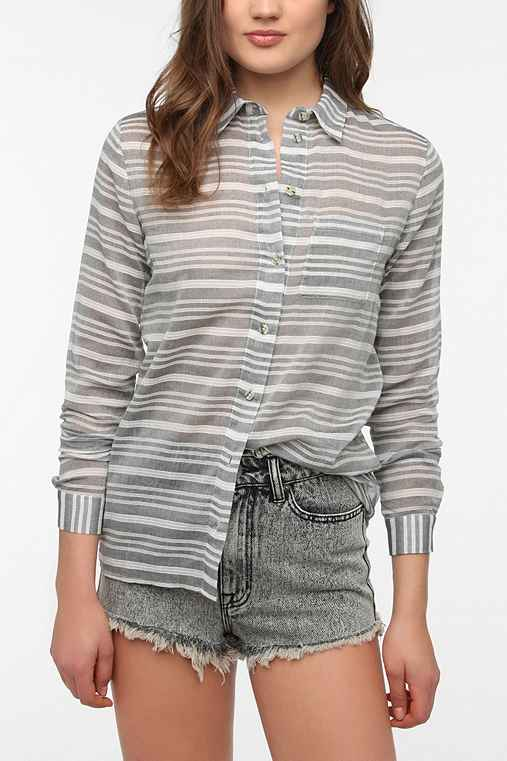 byCORPUS Striped Button-Down Shirt