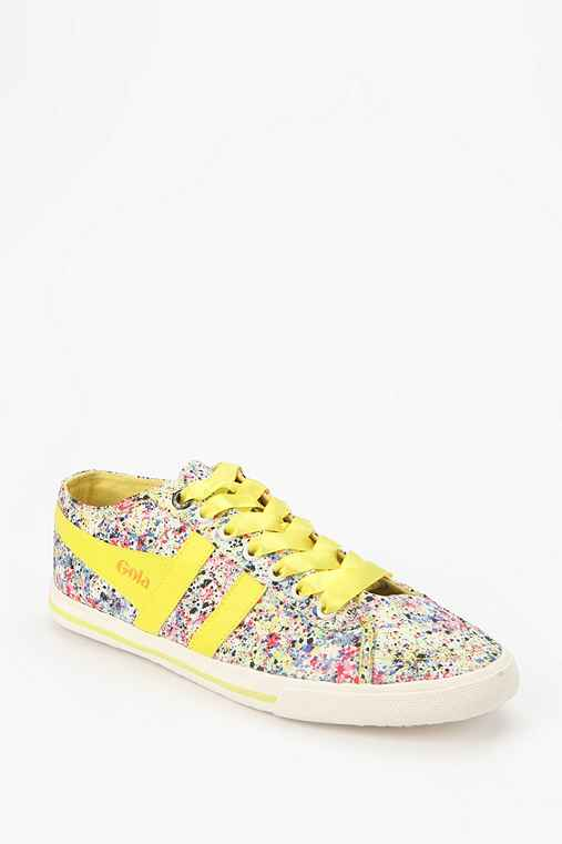 Gola Quota Milly Floral Leather Lace-Up Sneaker