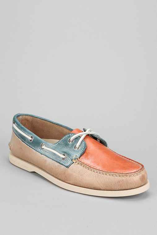 Sperry Top-Sider 2-Eye White Wash Boat Shoe