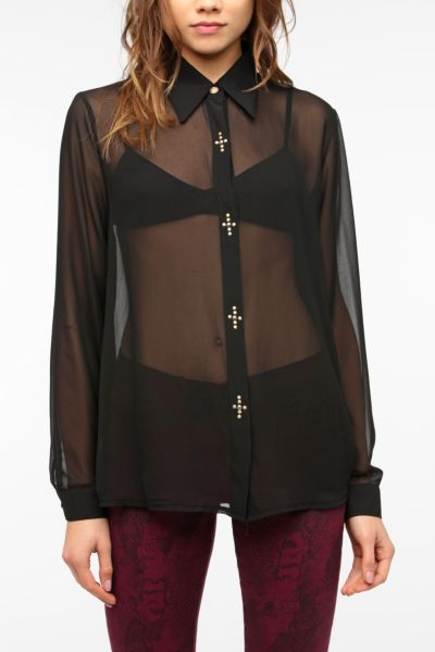 Sister Jane Cross Button Blouse
