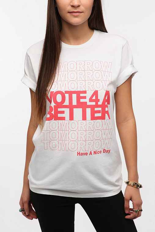 Junk Food Vote 4 A Better Tomorrow Tee