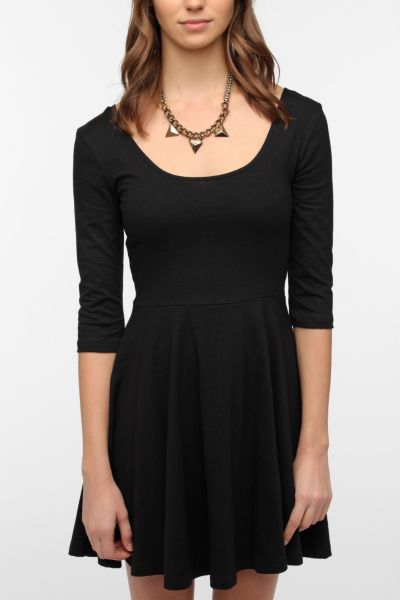 Sparkle & Fade 3/4 Sleeve Knit Skater Dress