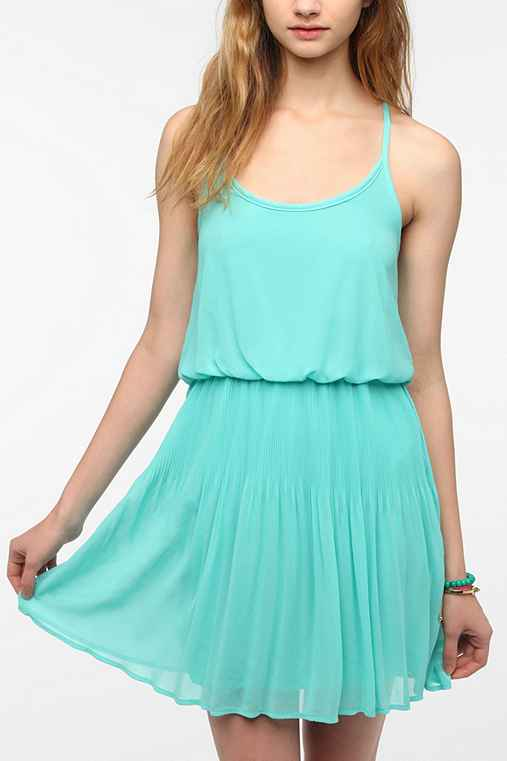 Pins And Needles Chiffon Mini Pleat Dress