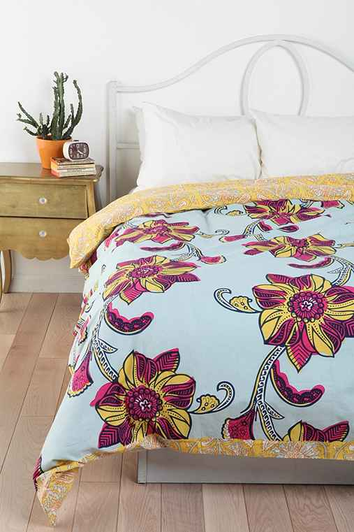 Magical Thinking Owabi Floral Reversible Duvet Cove