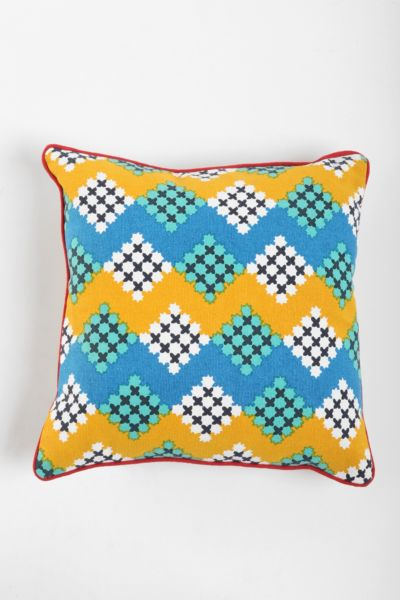 Magical Thinking Diamond-Stripe Pillow