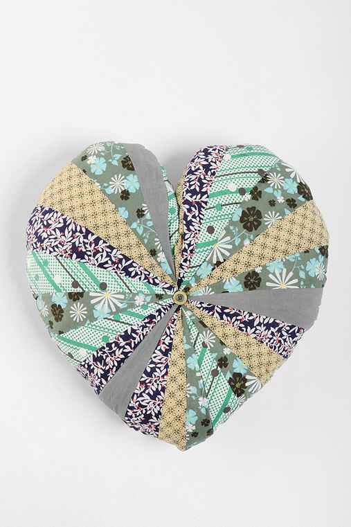 Plum & Bow Ditsy Heart Pillow