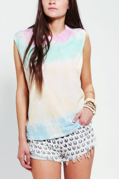 Truly Madly Deeply Tie-Dye Show Some Muscle Tee