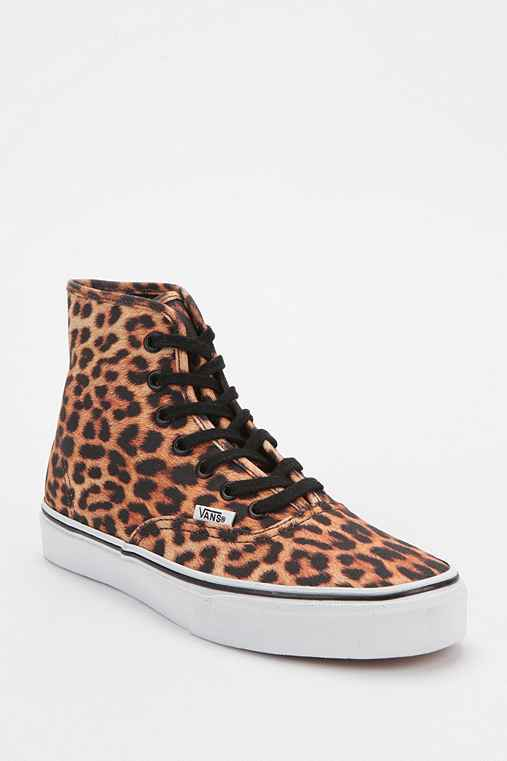 Vans Authentic Leopard Print High-Top Sneaker