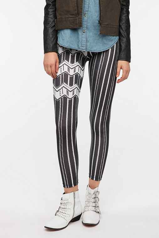 BDG Textured Stripe High-Rise Legging