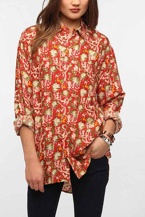 Urban Renewal Printed Button Down Shirt