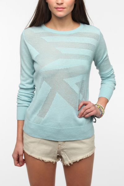 Sparkle & Fade Geo Mesh Patterned Sweater