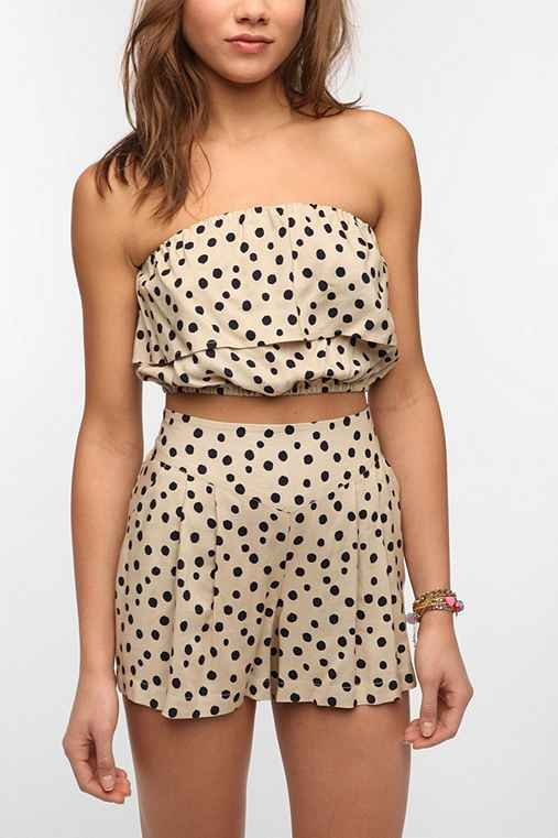 Fire Polka Dot Bandeau Top