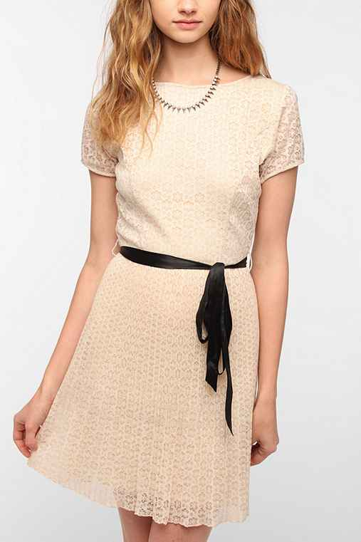Coincidence & Chance Pleated Lace Dress