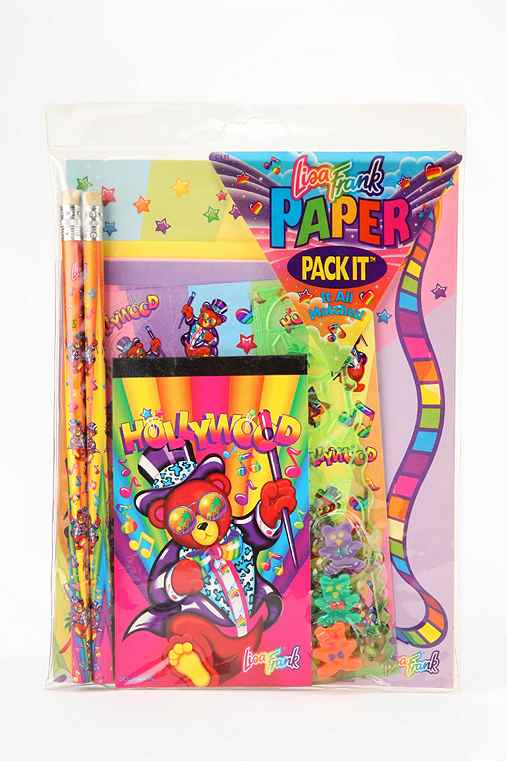 Lisa Frank Limited Edition Vintage Paper Pack It Stationery Set