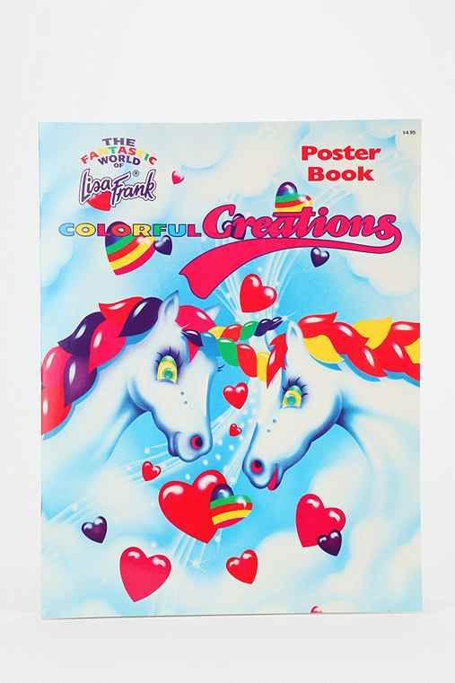 Lisa Frank Limited Edition Vintage Colorful Creations Poster Book