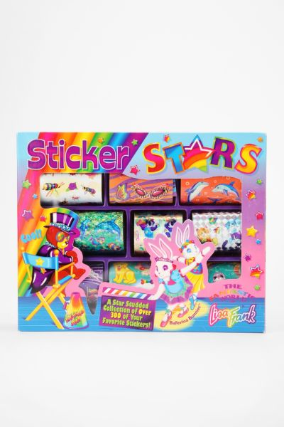 Lisa Frank Limited Edition Vintage Stars Collection Sticker Box