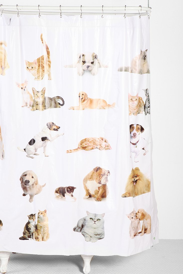 cats and dogs shower curtain urban outfitters