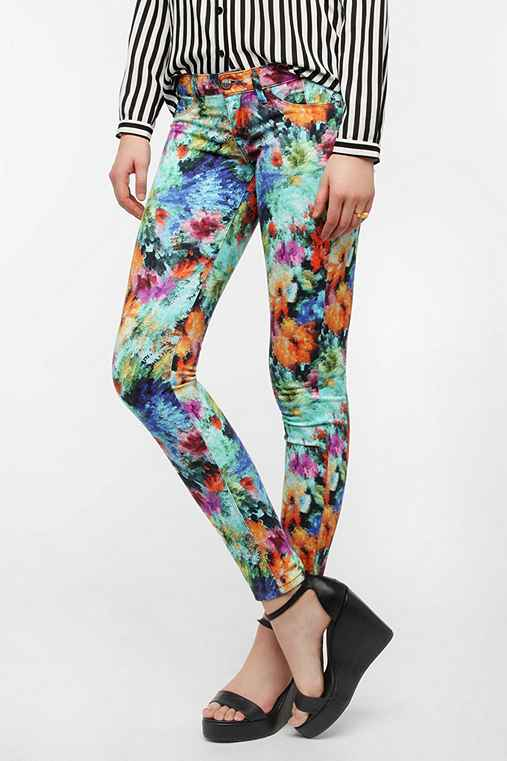 SOLD Design Lab Floral Soho Skinny Jean