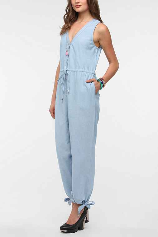 Angie Sleeveless Chambray Jumper