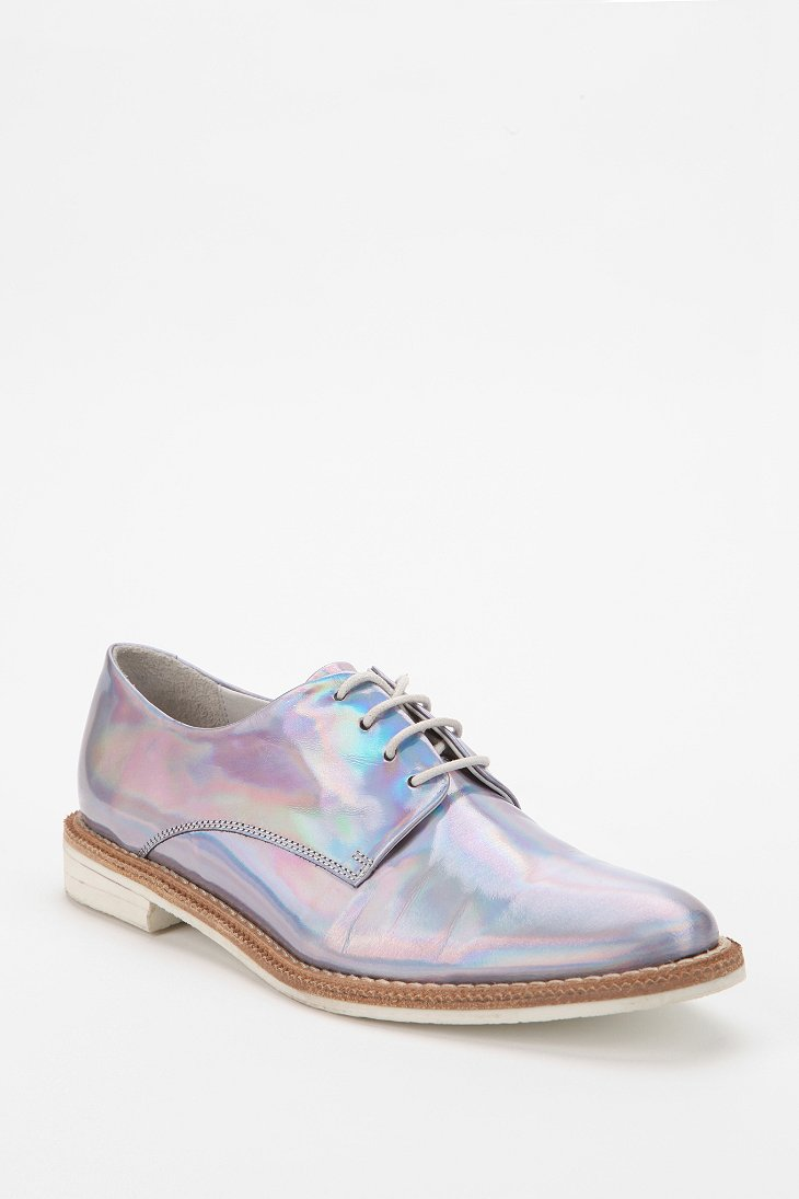 Simple Urban Outfitters Hologram Oxford In Metallic For Men  Lyst