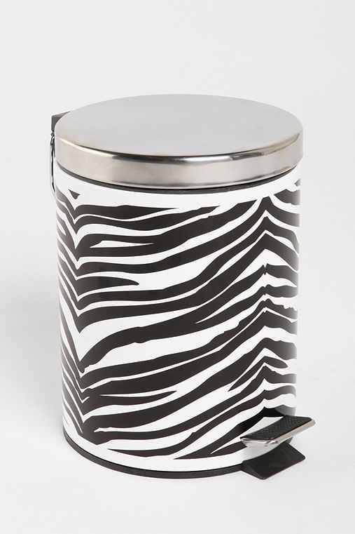 Zebra Step Trashcan
