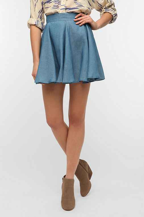 Lucca Couture Chambray Circle Skirt