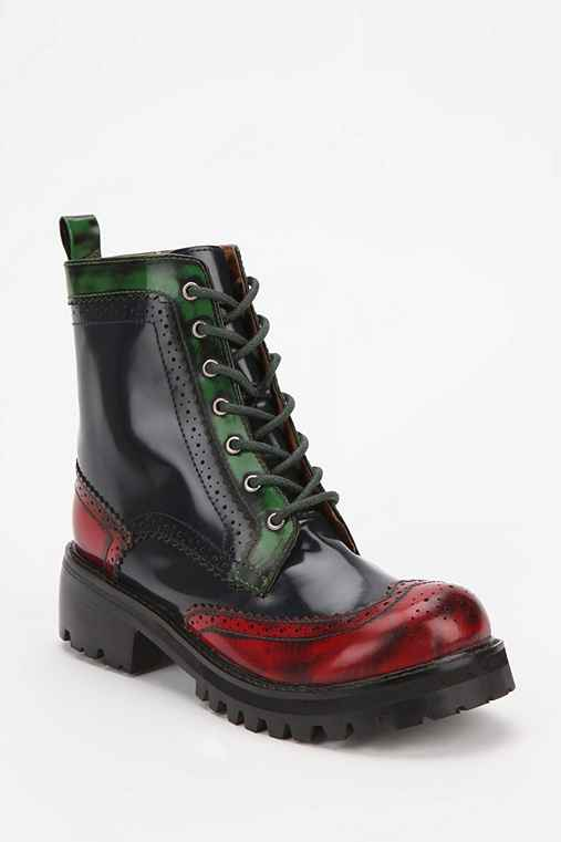 Jeffrey Campbell Hanover Lace-Up Leather Boot