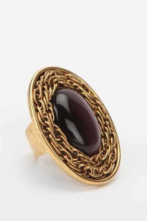 Urban Renewal Chain Cabochon Ring