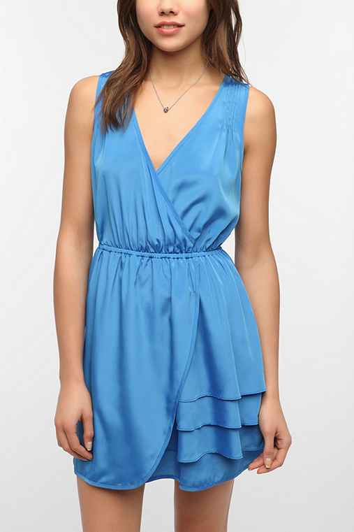 Pins and Needles Silky Surplice Dress
