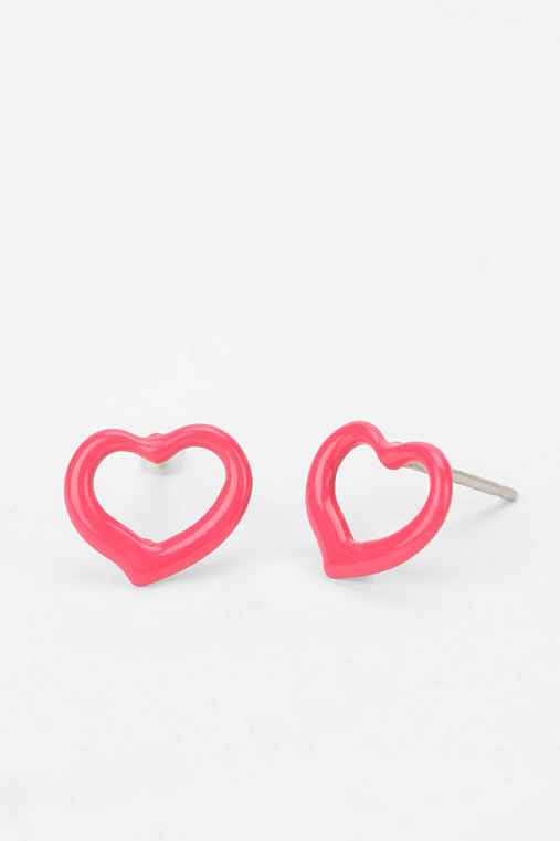 Diament Jewelry For Urban Renewal Enamel Heart Earring