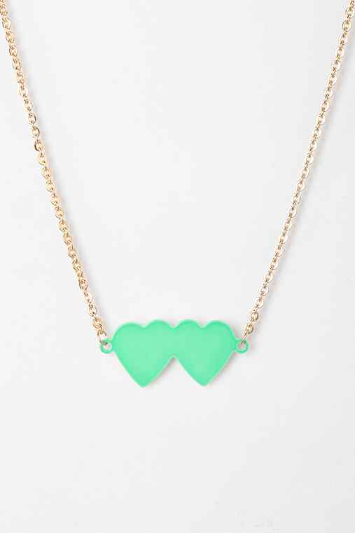 Diament Jewelry For Urban Renewal Double Heart Necklace
