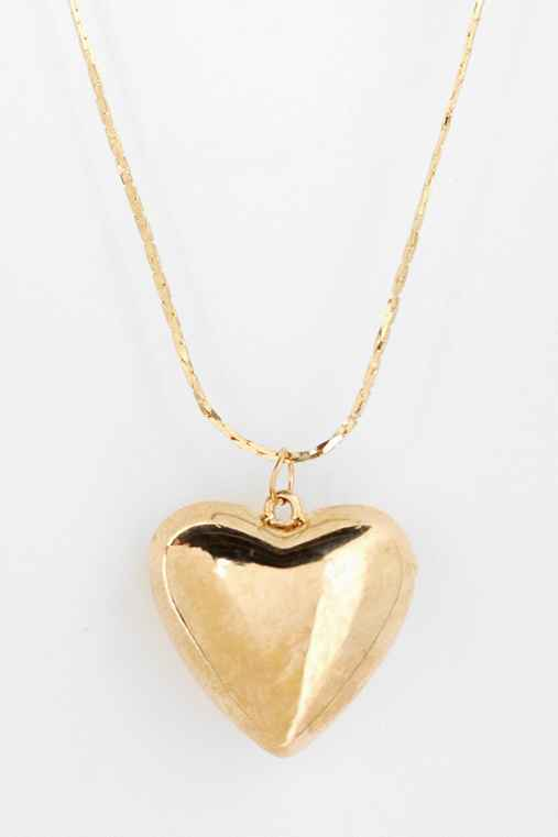 Urban Renewal Puffed Heart Necklace