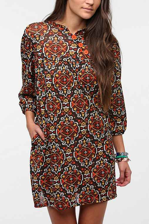 Urban Renewal Printed Babydoll Dress