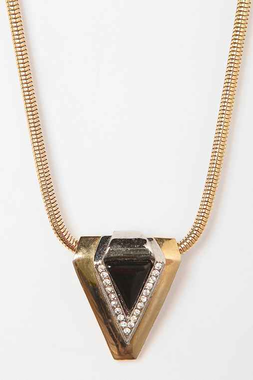 Vintage '70s DVF Crystal Pendant Necklace