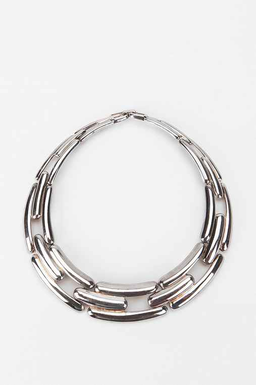 Vintage '70s Givenchy Silver-Tone Choker Necklace