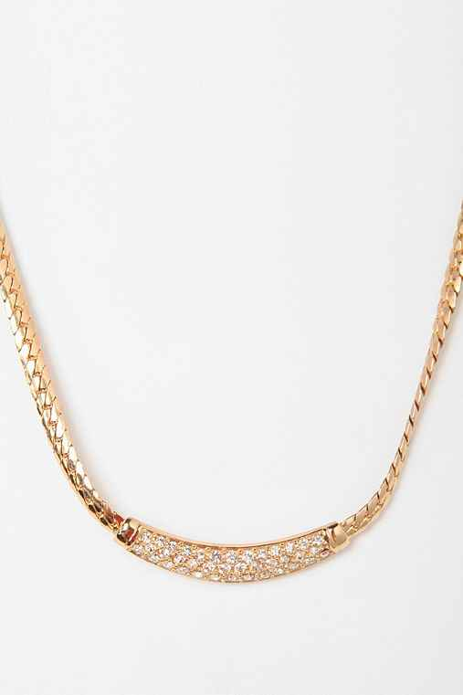 Vintage '80s Christian Dior Rhinestone Necklace