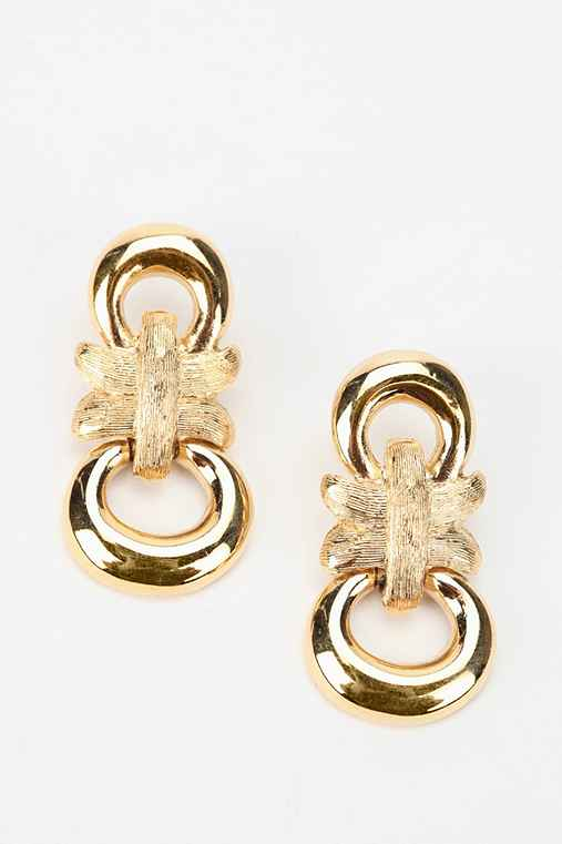 Vintage '80s Gold-Tone Givenchy Dangle Earring
