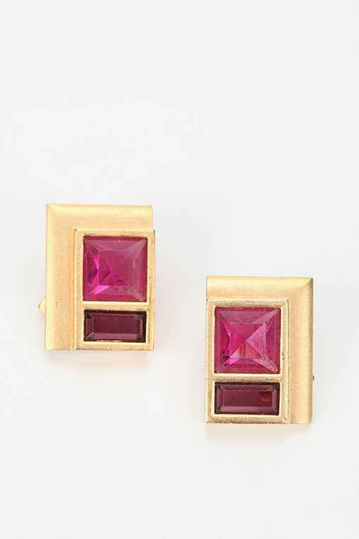 Vintage '80s YSL Rectangle Earring
