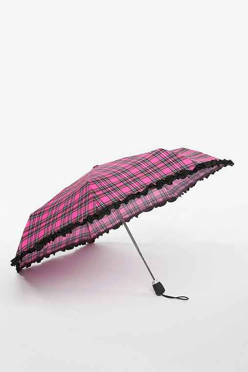 Betsey Johnson Plaid Ruffle Umbrella