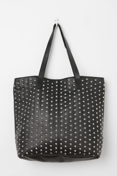 Steve Madden All-Over Pyramid-Stud Tote Bag