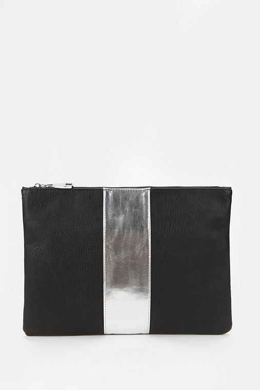 Steve Madden Pop-Stripe Zip-Pouch