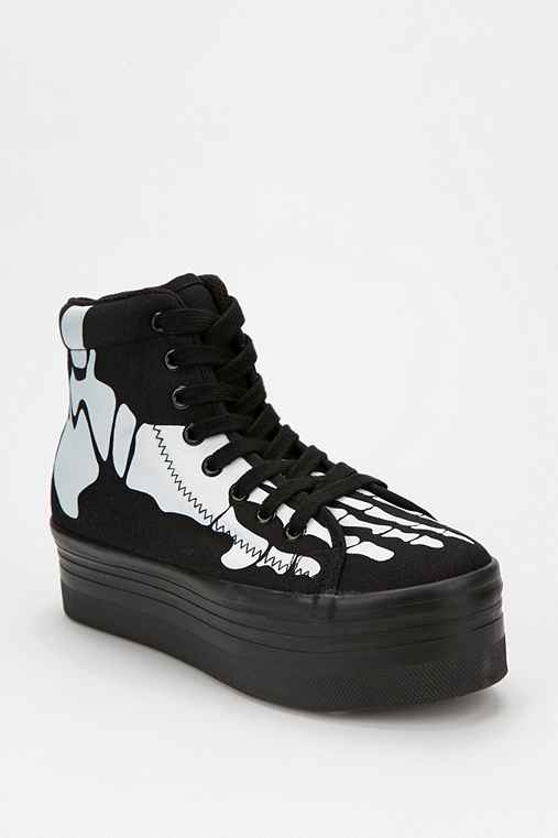 Jeffrey Campbell HOMG Skeleton High-Top Flatform-Sneaker