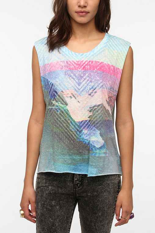 Sparkle & Fade Sublimated Printed Muscle Tee